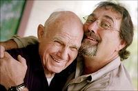 Alzheimer's patient with son
