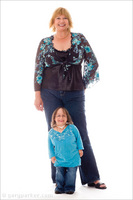 Stephanie Mayhugh, born with Primordial Dwarfism, at 31, with mother Patricia.