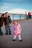 "Bridgette Jordan - 23 at this time & the Guinness World Records ""World's Smallest Lady"" at the beach in Santa Cruz, CA with brother Brad Jordan & Hannah Kritzeck in the background.  All Primordial Dwarfism..."