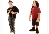 "At left, Jarrod W Evans, 41"", has Type SEMD Dwarfism.  At right Branden Petersen, 42"", has SED Dwarfism."