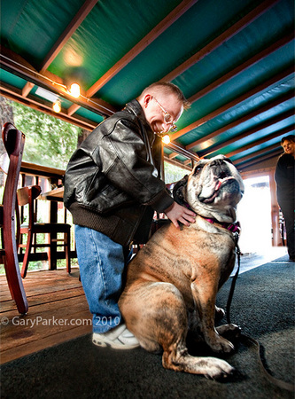 "After seeing the big tree Nick, 18, discovers ""You CAN get anything you want at nearby Alice's Restaurant"" - at least, a sweet bulldog!"