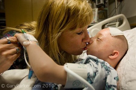 Nick got plenty of reassurance from Mom, Dad, family friends and staff during his stay in ICU Stanford Medical Center.