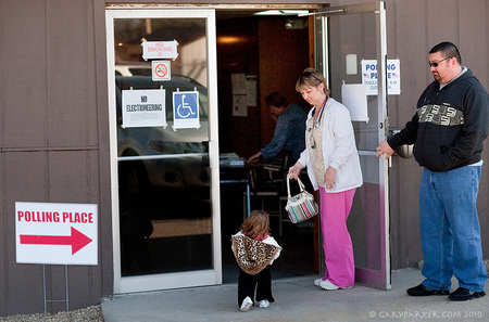 After getting off work as an RN, single Mom Christy takes Bridgette to vote in a local election...  When Bridgette was born her rare condition was a medical mystery for the first 9 years.  Christy became a RN in order to better care for her two Primordial Dwarf children.