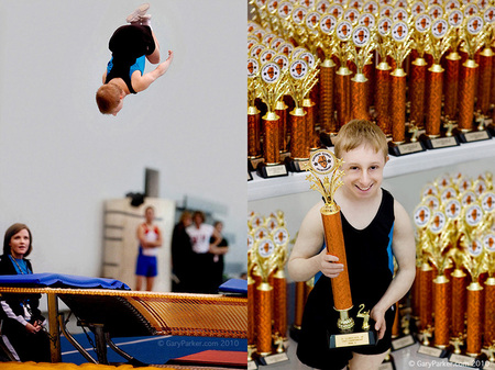 Brad shows off the form which made him STATE CHAMPION in Illinois for his floor exercise routine.  Brad's diminutive physiology & extreme musculature make him an astonishing athlete, perhaps one of the quickest men on Earth, physicists have hypothesized.