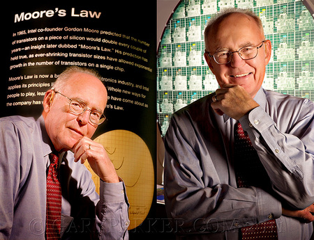 "Intel Co-Founder Gordon Moore - currently Chairman Emeritus -  Author of ""Moore's Law"" & creator of the Integrated Circuit.  When asked what he enjoys when not being a technology icon and philanthropist, Gordon said, ""I go fishing!"""
