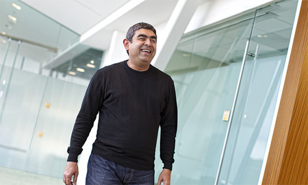 Annual Report shoot for SAP, one of the worlds largest software companies. CTO Vishal Sikka is at the forefront of SAP's software infrastructure.