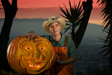 World-level pumpking carver Mike Valladao of San Jose for Boys Life Magazine