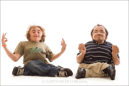 Adam Sanders, left, and James Grant each have a rare type of dwarfism called Osteogenesis Imperfecta, sometimes known as Brittle Bone Disease.