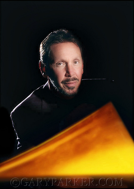 Getting in to create a magazine cover of Larry Ellison, CEO of Oracle Corporation & one of the wealthiest Americans, was a challenge.  Larry has a reputation for being tough but was cordial on each occasion I photographed him.