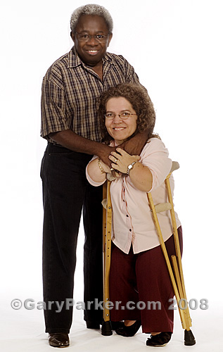 Carlton and Jody Russell in 2005.  Carlton is a now-rare Pituitary Dwarf.  Jody has Diastrophic Dwarfism