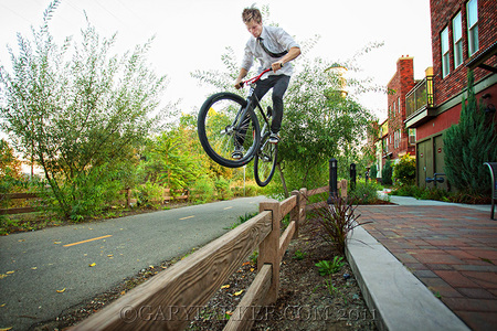 Forest Parker, a professional Fixed Gear Freestyle athlete, sponsored by LDG and Royale