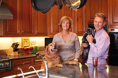 Ray O'Connor, CEO & President of Topcon Positioning Systems, as well as Chairman of Topcon Europe, at home with family.