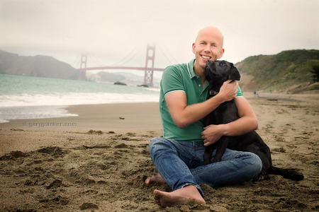 Pet Portraits; Arjan with Mickey / San Francisco
