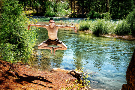 Levitation on Cle Elum River, Washington state