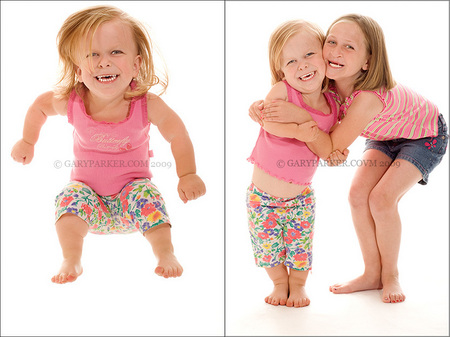 Shelby & Kasey Tarnow having fun during the photo shoot.  Shelby, who has Achondroplasia - the most common form of Dwarfism - is a very happy, active 7 year old.